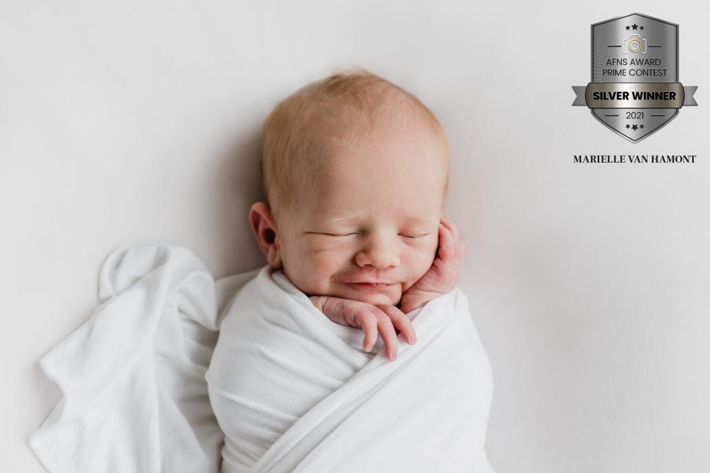 Silver Award, award winnende foto, newbornfotografie